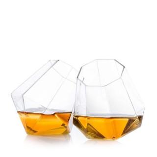 Whiskyglas med diamantform